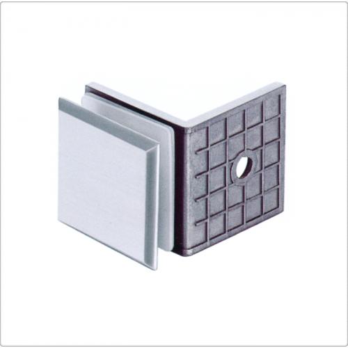 Conector inox perete/sticla la 90 de grade