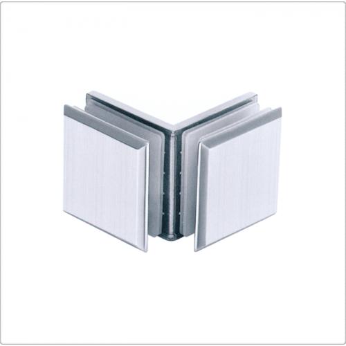 Conector inox sticla/sticla la 90 de grade