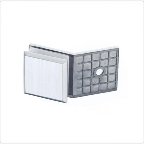 Conector inox perete/sticla la 135 de grade