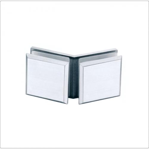 Conector inox sticla/sticla la 135 de grade