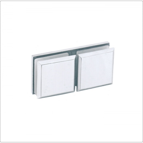 Conector inox sticla/sticla la 180 de grade